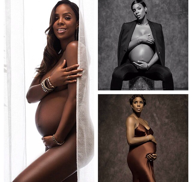 Kelly Rowland strips for Elle Magazine