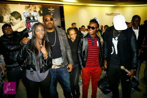 Mavin artist land at Heathrow airport
