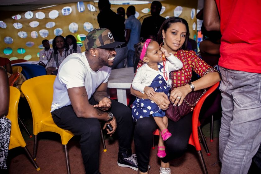 Peter, Lola & Aliona okoye at Julius Agwus Childrens Birthday Party
