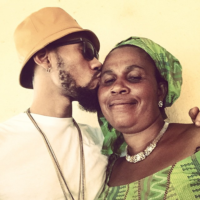 Phyno shares lovely photo of himself and mum