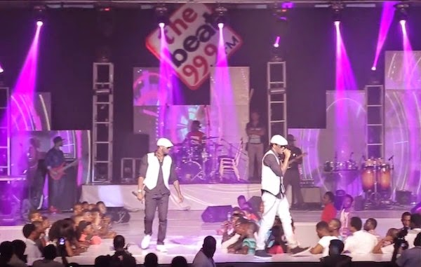 Psquare at BeatFM concert