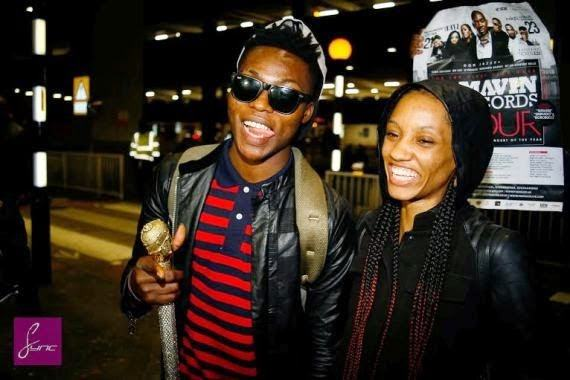 Reekado Banks & Di'ja land at Heathrow airport