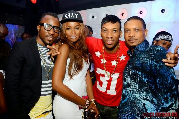 Seyi Shay and Shina Peller at Skuki Peeshaun's birthday party