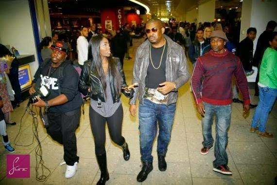 Tiwa & Jazzy land at Heathrow airport