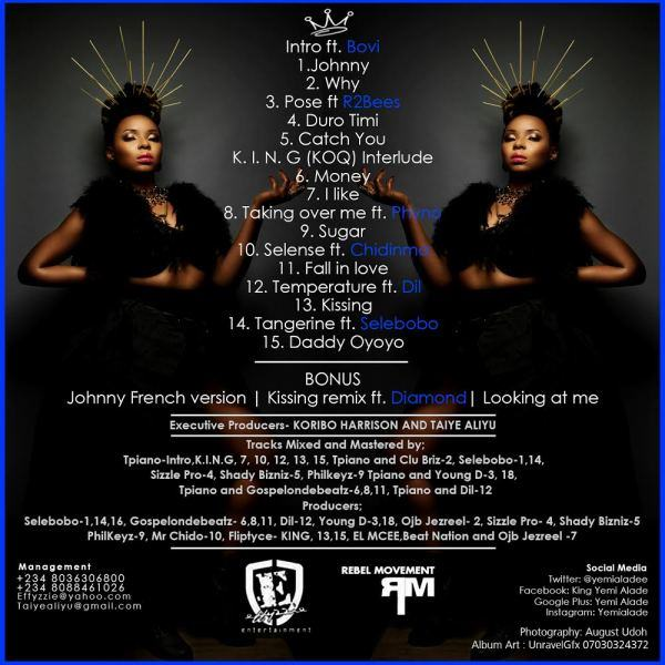 Yemi Alade - King Of Queens Album Track listing
