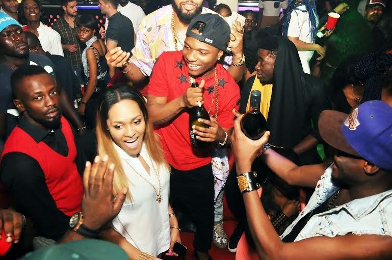 wizkid, Tania and Jude - PRE's 25th birthday party