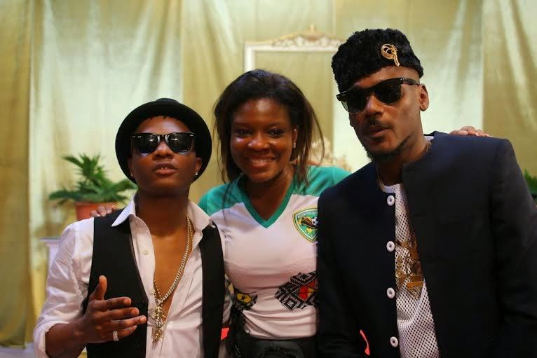 2face and Wizkid's - Dance Go video shoot