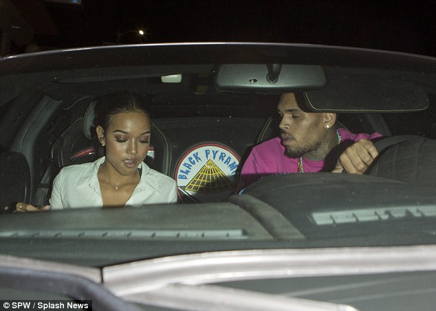 Chris Brown and girlfriend
