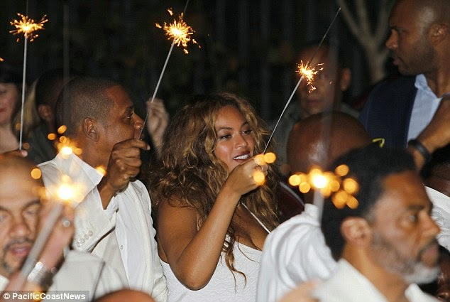 Jay Z and Beyonce at Solange and Alan's wedding