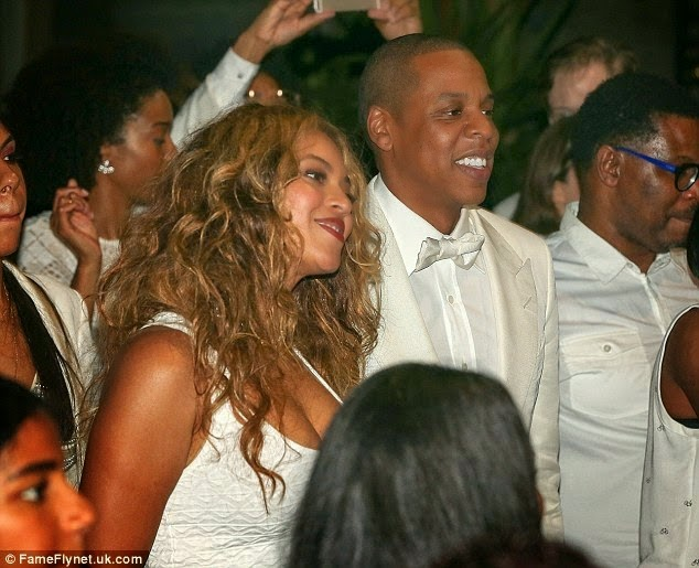 Jay Z and Beyonce at Solange's wedding