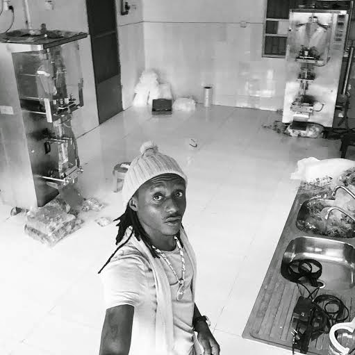Terry G in his Sachet Water Factory