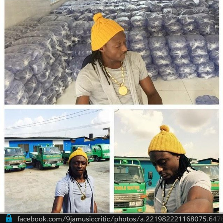 Terry G shows off his Sachet Water Factory