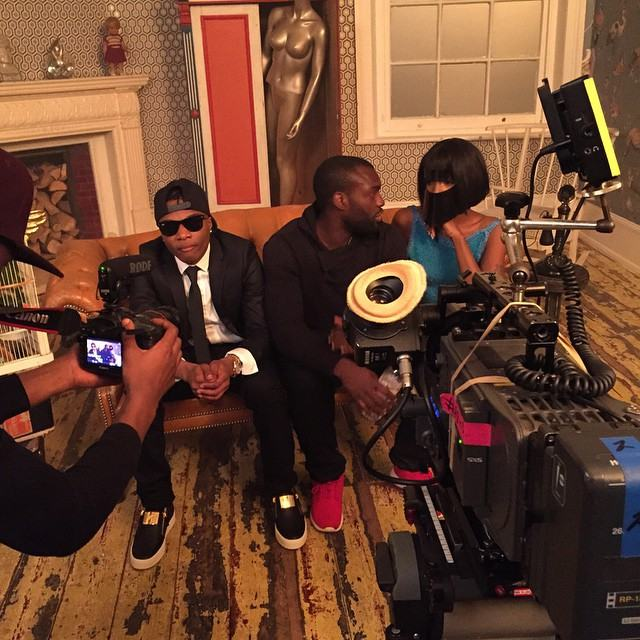 Wizkid and Seyi Shay shoots video for 'Crazy'
