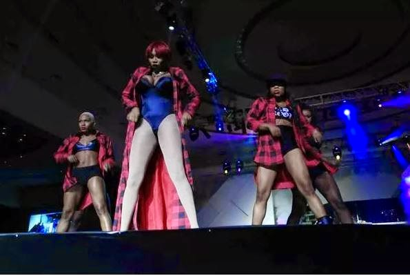 Cynthia Morgan's b00bs spilled out on stage