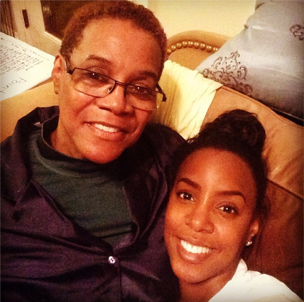 Kelly Rowland and her mum