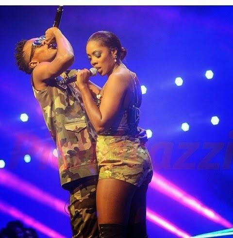 Tiwa Savage and Patoranking go naughty on stage