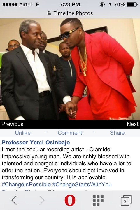 Professor Yemi Osinbajo post