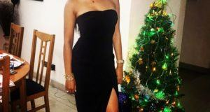 Tania Omotayo all sexy for christmas eve date with Wizkid