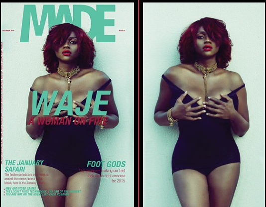 Waje flaunts sexy bikini body for Made Magazine
