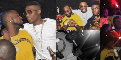 Wizkid Davido spotted partying
