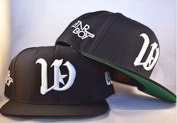 Wizkid shares pictures of his new snapback range