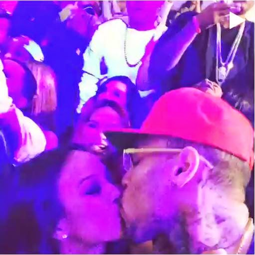 Chris Brown & Karrueche celebrates the New Year with love & kisses