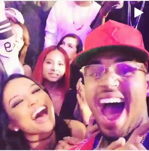 Chris Brown & Karrueche celebrates the New Year
