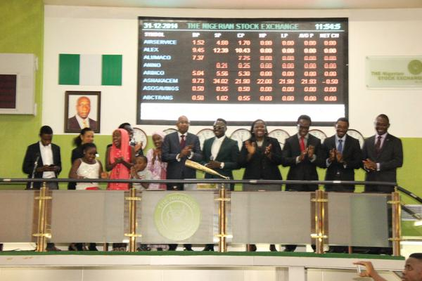 Dr Sid Ring Closing Bell for the Nigerian Stock Exchange