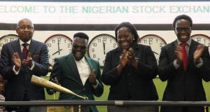 Dr Sid Rings Closing Bell for the Nigerian Stock Exchange