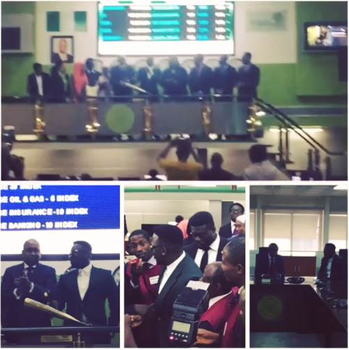 Dr.Sid Rings Closing Bell for the Nigerian Stock Exchange
