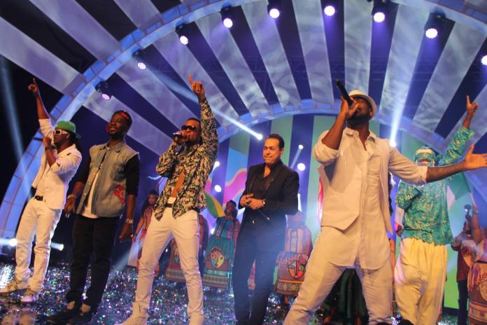 Psquare and FLavour perform - The Glo CAF awards