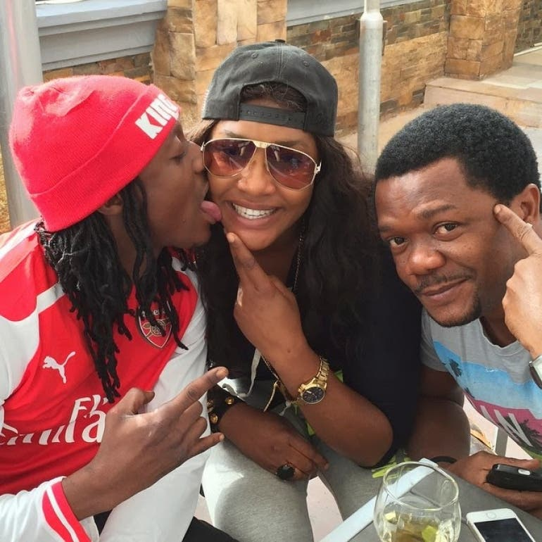 Terry G licks Angela Okorie's face