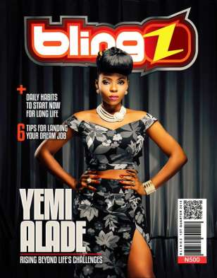Yemi Alade becomes first female to cover Blingz Magazine