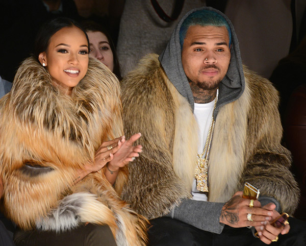 Chris Brown & Karrueche loved up