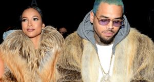 Chris Brown and Karrueche loved up