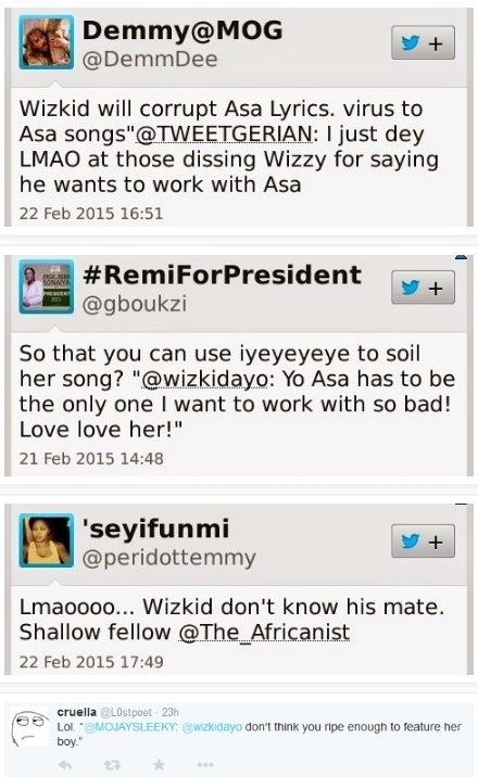 Nigerians insult Wizkid after he tweets desire to collaborate with Asa
