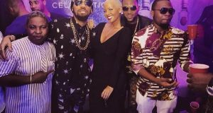 Olamide, Dbanj and Phyno chilling with Amber Rose