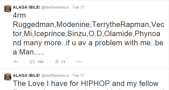 Reminisce replies A-Q diss track in series of tweets