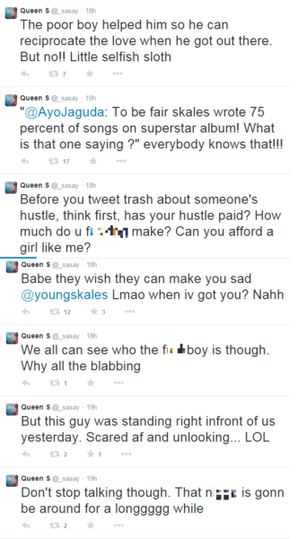 Skale's girlfriend blasts Wizkid, others as she defends her man