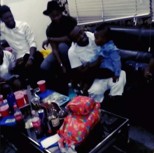 Ice Prince throws his son a birthday party