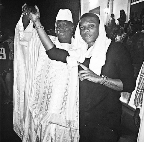 Wizkid spotted with the President of Gambia