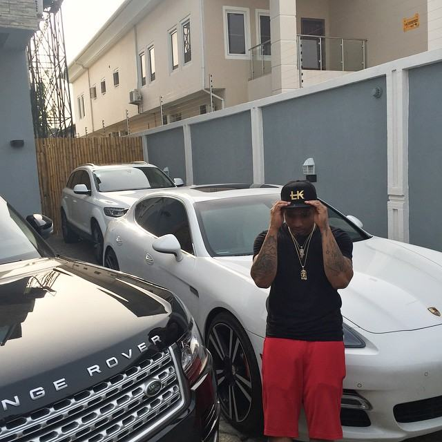 B-red and Davido's cars