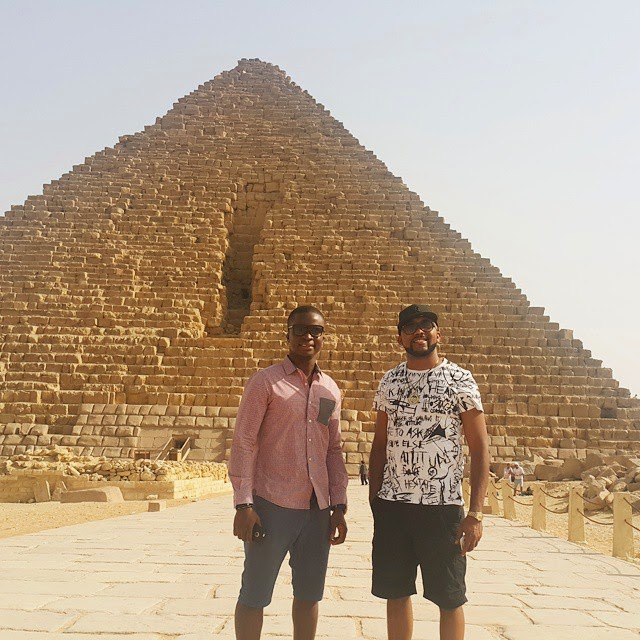 Banky W visit the Egyptian pyramids