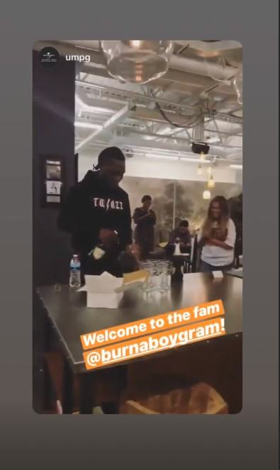 Burna Boy signs deal with Universal Records