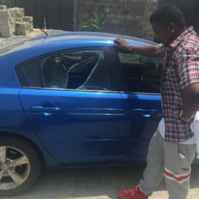 CDQ with his burgled car.