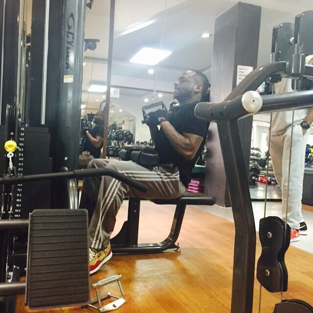 Davido Sweat It Out In The Gym