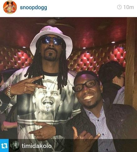Snoop Dogg and Timi Dakolo