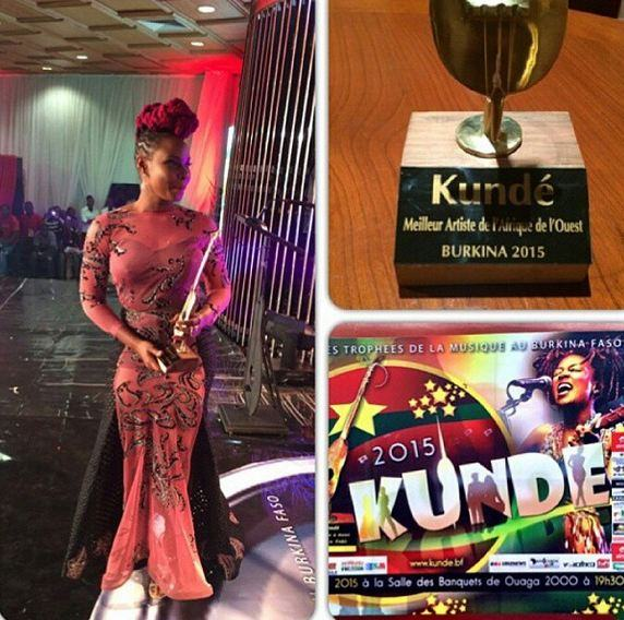 Yemi Alade wins Best Artist In West Africa at Kunde Awards