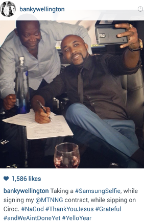 Banky W Signs One More Year As MTN Ambassador