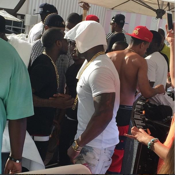 Davido and 50cent in Vegas